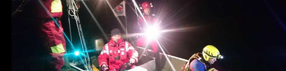Nachtübung mit Boot